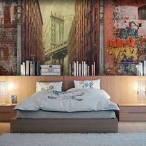 Contemporary wallpaper / vinyl / urban motif / 3D effect