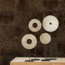 Contemporary wallpaper / vinyl / animal motif / geometric pattern