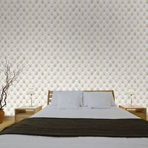 Contemporary wallpaper / vinyl / tufted / fabric look