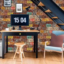 Retro wallpaper / vinyl / urban motif / panoramic