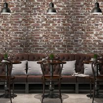 Industrial style wallpaper / vinyl / geometric pattern / urban motif