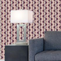 Traditional wallpaper / vinyl / geometric / striped