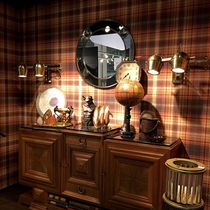 Vintage wallpaper / vinyl / panoramic / plaid