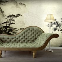 Contemporary wallpaper / vinyl / nature pattern / chinoiserie