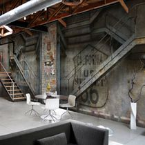 Contemporary wallpaper / vinyl / urban motif / panoramic