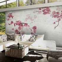 Contemporary wallpaper / vinyl / floral / nature pattern