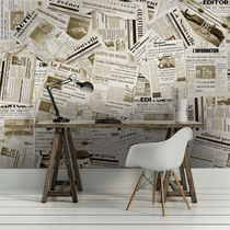 Contemporary wallpaper / vinyl / geometric / urban motif