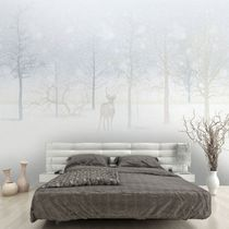 Contemporary wallpaper / vinyl / nature pattern / animal motif