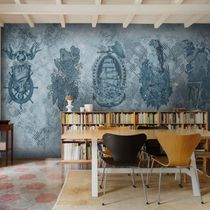 Contemporary wallpaper / vinyl / animal motif / urban motif