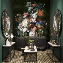 Classic wallpaper / vinyl / floral / non-woven