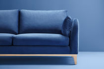 Contemporary sofa / fabric / 2-seater / blue