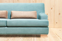 Contemporary sofa / fabric / 3-seater / blue