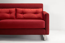 Contemporary sofa / stainless steel / fabric / 3-seater