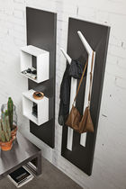 Contemporary entryway cabinet / wall-mounted / wooden / magnetically fixed