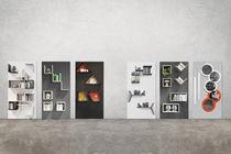 Modular shelf / wall-mounted / original design / metal