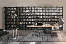 High bookcase / modular / contemporary / metal