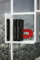 High bookcase / contemporary / metal