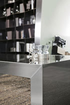 Contemporary coffee table / stainless steel / rectangular