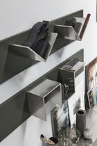 Contemporary living room wall unit / wooden / sheet metal / steel