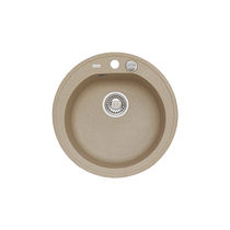 Single-bowl kitchen sink / composite / round