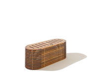 Contemporary chest / garden / teak