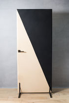 Interior door / swing / wooden / leather