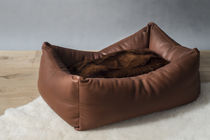 Pet dogs and cats armchair / contemporary / leather / custom