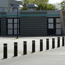 Security bollard / recycled plastic / high