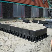 Precast ground beam