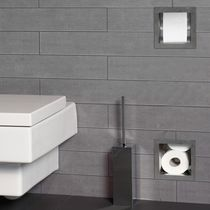 Built-in toilet paper dispenser / stainless steel / commercial