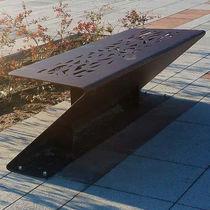 Public bench / contemporary / steel