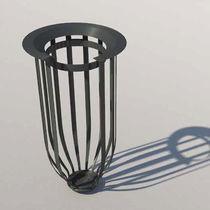 Public trash can / steel / contemporary / anti-terrorism