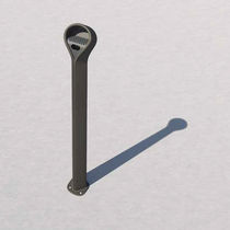 Pedestal ashtray / aluminum / cast iron / for outdoor use