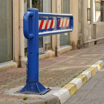 Access control barrier / pivoting / steel / for public spaces