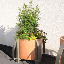 Steel planter / polyethylene / round / contemporary
