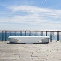 Public bench / contemporary / sheet steel / modular