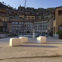 Contemporary pouf / high-performance concrete / outdoor / for public areas