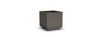 Galvanized steel planter / square / rectangular / contemporary