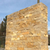 Stone wall cladding panel / exterior / 3D / decorative