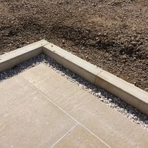 Garden edge / natural stone / linear / rectangular