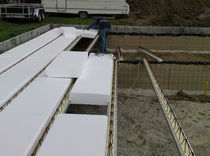 Structural floor with girder-slabs / steel / concrete / polystyrene interjoist