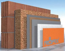 Thermal insulation / cork / for exterior insulation finishing systems / wall