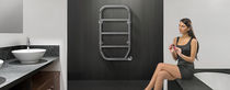 Electric towel radiator / thermal fluid / steel / chrome