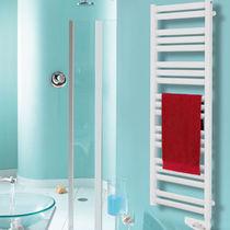 Electric towel radiator / thermal fluid / metal / contemporary