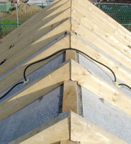 Thermal-acoustic insulation / stone wool / for roofs / panel