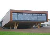 Prefab building / commercial / wood / concrete
