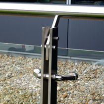 Stainless steel fastening system / for panels / for railing / spider fitting