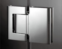 Glass door hinge / stainless steel / hydraulic / with self-closing system