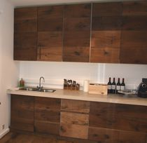 Insulation decorative panel / wood / for kitchens / wall-mounted