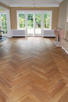Solid wood flooring / glued / solid wood / aged